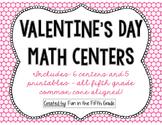 5th Grade Valentine Themed Math Centers {Common Core Aligned}