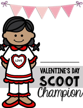 5th Grade Valentine's Day Adding and Subtracting Mixed Numbers Scoot Game