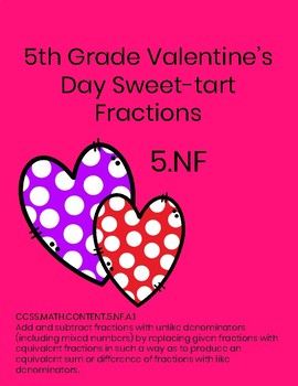 5th Grade Valentine's Day Fractions- SweetTarts