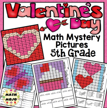 5th Grade Valentine's Day Math: 5th Grade Math Mystery Pictures