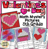 5th Grade Valentine's Day Math Activities: Color By Number