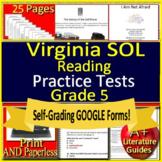 5th Grade Virginia SOL Reading Test Prep Practice TEI Grade 5 VA SOL