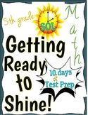 5th Grade Virginia SOL Test Prep - 10-Day Test Prep Packet and Review