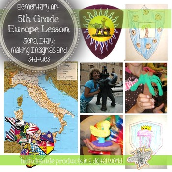 Elementary Art Lesson for 5th Grade on European Art, Italy, Drawing & Clay