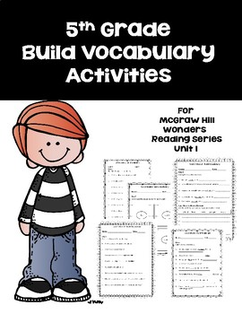 5th Grade Vocabulary Activities for Mc-Graw Hill Wonders Reading Series