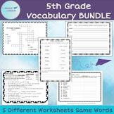 5th Grade Vocabulary BUNDLE