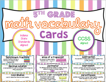 5th Grade Vocabulary Cards MEGA Bundle