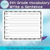 5th Grade Vocabulary Create a Sentence
