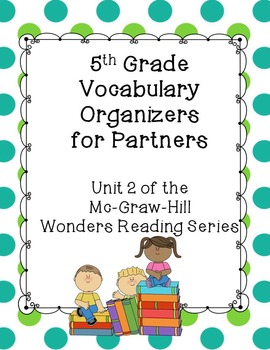 5th Grade Vocabulary Partner Organizers--Wonders Reading Series Unit 2