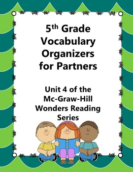 5th Grade Vocabulary Partner Organizers--Wonders Reading Series Unit 4
