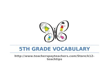 5th Grade Vocabulary (>200) Sight Words