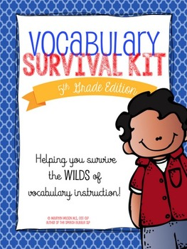 5th Grade Vocabulary Survival Kit