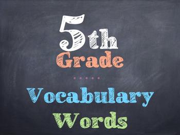 5th Grade Vocabulary Words