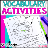 5th Grade Vocabulary Words for the ENTIRE YEAR!