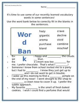 5th Grade Vocabulary Workbook