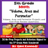 5th Grade Volume, Area & Perimeter, 30 Enrichment Projects