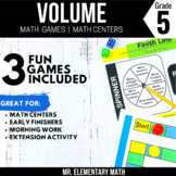 5th Grade Volume Games and Centers