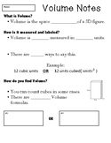 5th Grade Volume Notes