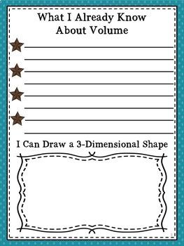 5th Grade Volume Portfolio Common Core