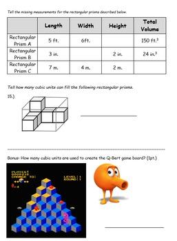 5th Grade: Volume Quiz