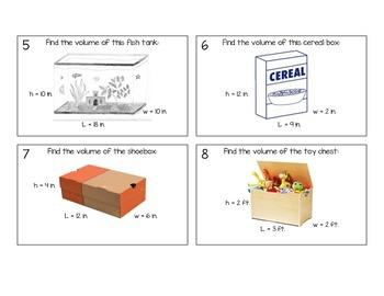 5th Grade Volume Task Cards