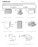 5th Grade: Volume Unit Test (Summative Assessment)