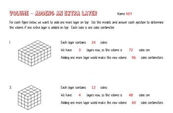 5th Grade Volume as Layers - 5.MD.C.5a and 5.MD.C.5b