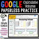 5th Grade Volume of Rectangular Prisms & Additive Volume {5.MD.5} Google Class