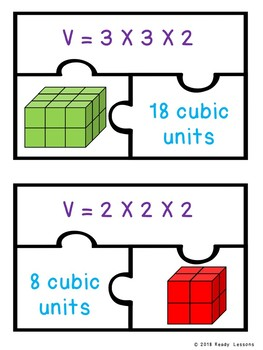 5th Grade Volume of Rectangular Prisms Game Puzzle Find Volume Cubic Unit 5.MD.5