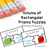 5th Grade Volumes of Rectangular Prism Game Puzzle Find Volume Cubic Unit 5.MD.5
