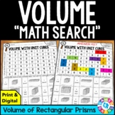 5th Grade Volume of Rectangular Prisms Math Search {5.MD.3, 5.MD.4, 5.MD.5}