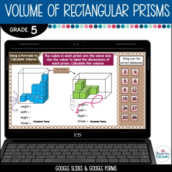 5th Grade Volume of Rectangular Prisms for Google Classroom