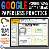 5th Grade Volume of Rectangular Prisms with Unit Cubes {5.MD.3, 5.MD.4} Google