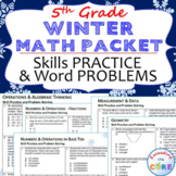 5th Grade WINTER December MATH PACKET { COMMON CORE Assessment }