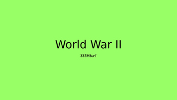 5th Grade WWII PPT
