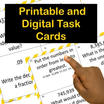5th (Fifth) Grade  Place Value Task Cards