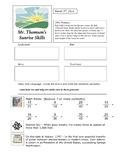 5th Grade Warm Up Bell Ringer Activities - Sunrise Skills for 166 days