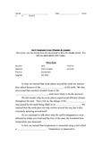 Weather & Climate Vocabulary Homework & Quizzes Set 9-12 (Essential Standards)