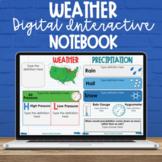 5th Grade Weather Digital Interactive Notebook - NC Scienc