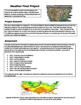 5th Grade Weather Interdisciplinary Final Project