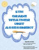 Test Prep: 5th Grade Weather Unit Summative Assessment