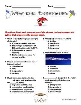 EOG PREP: 5th Grade Weather and Ecosystems Assessments (Bundle Deal)