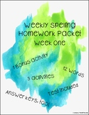 5th Grade Weekly Homework Packet: 1