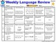 5th Grade Weekly Language Review