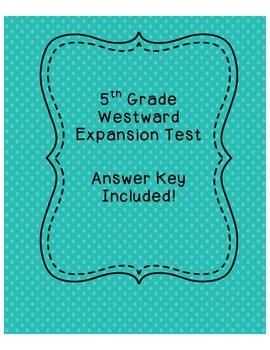5th Grade Westward Expansion Assessment
