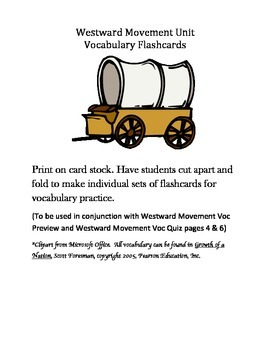 5th Grade Westward Movement Vocabulary Packet