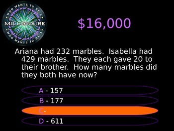 5th Grade Who Wants to Be a Millionaire STAAR Review Quiz Game 2017