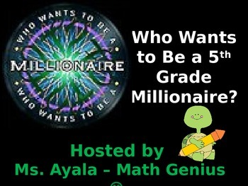 5th Grade Who Wants to Be a Millionaire STAAR Review Quiz Game