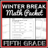 5th Grade Winter Break Math Packet, Holiday Break Packet