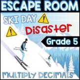 5th Grade Winter Digital Escape Room Multiply Decimals Rev